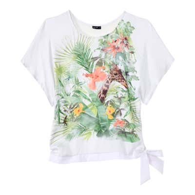 Damen-Bluse mit tollem Tropenmotiv
