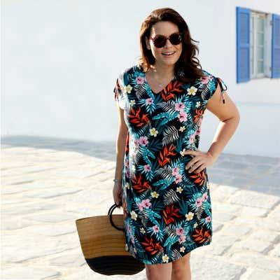 Damen-Kleid mit schicker Schnürung, große Größen