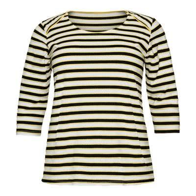Damen-Shirt mit Streifenmuster, große Größen