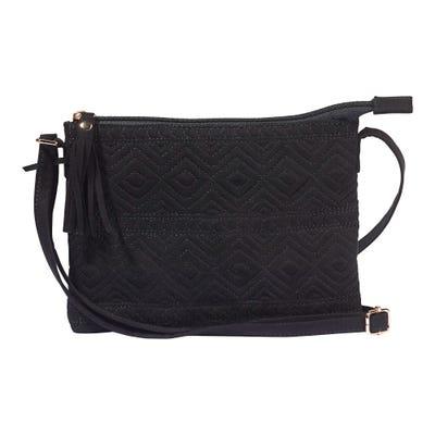 Damen-Handtasche mit Zierquaste, ca. 23x17cm