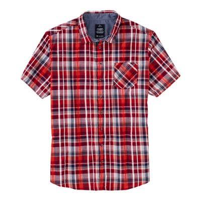 Herren-Seersucker-Hemd mit Brusttasche, große Größen