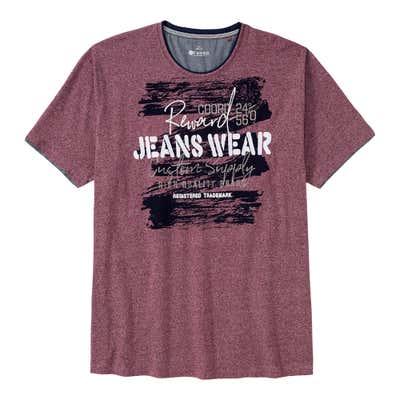 Herren-T-Shirt mit großem Frontaufdruck, großen Größen