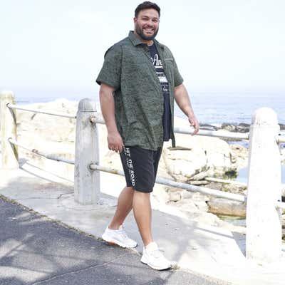 Herren-Sweat-Bermudas mit Schriftzügen, große Größen