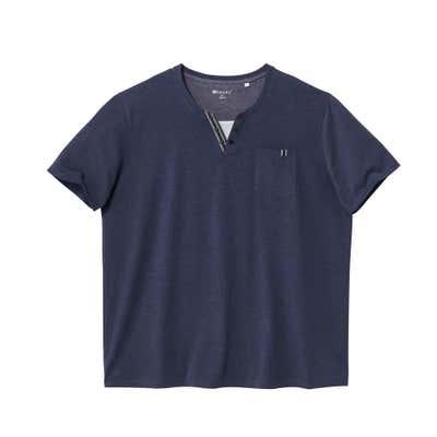 Herren-T-Shirt mit Henley-Ausschnitt, großen Größen