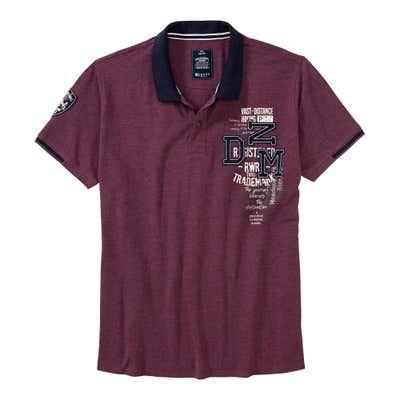 Herren-Poloshirt mit Applikationen, große Größen