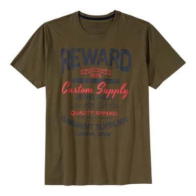 Herren-T-Shirt mit trendigem Frontaufdruck, großen Größen