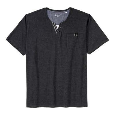 Herren-T-Shirt mit 1 Brusttasche, große Größen
