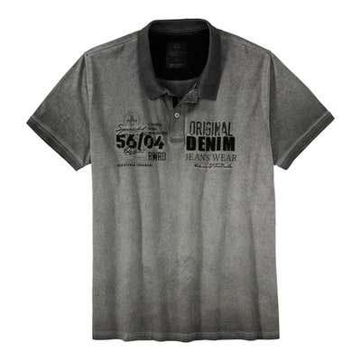 Herren-Poloshirt in Oil-Washed-Optik