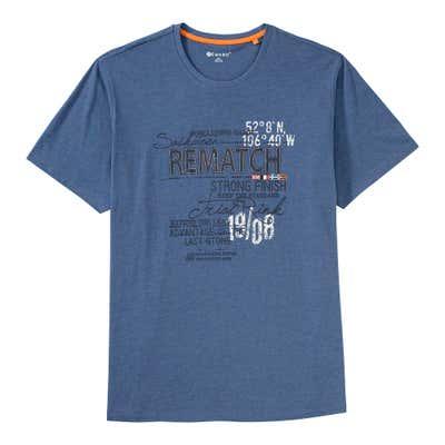 Herren-T-Shirt mit tollem Frontaufdruck, große Größen