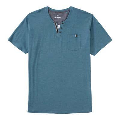 Herren-T-Shirt im Henley-Style, große Größen