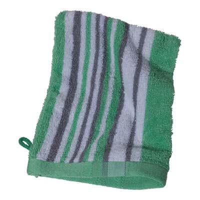 Waschhandschuh mit farbigen Streifen, ca. 16x21cm