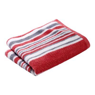 Handtuch mit farbigen Streifen, ca. 50x90cm