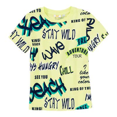 Jungen-T-Shirt mit coolen Schriftzügen