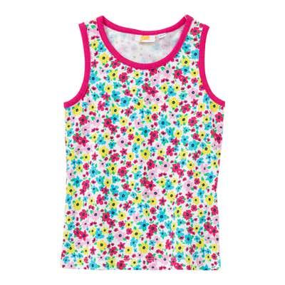 Mädchen-Top mit Blümchen-Muster