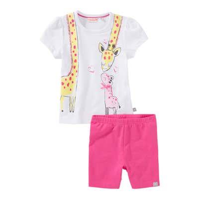Baby-Mädchen-Set mit Giraffen-Aufdruck, 2-teilig