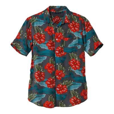 Herren-Hemd mit abgerundetem Saum