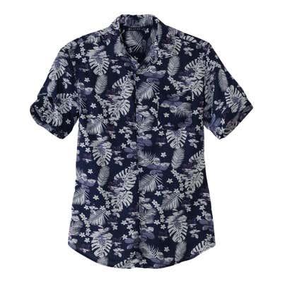 Herren-Hemd mit stylischen Blüten