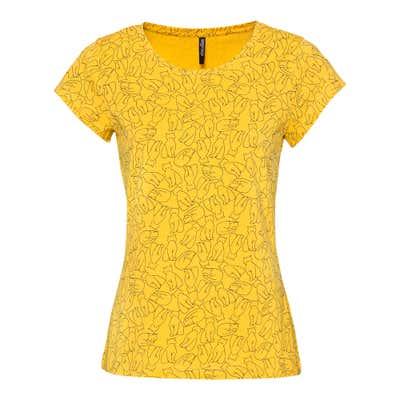 Damen-T-Shirt in trendiger Optik