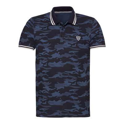 Herren-Poloshirt mit Camouflage-Muster