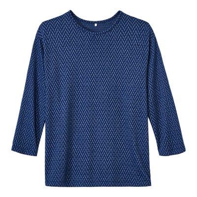 Damen-Sweatshirt mit schönem Zick-Zack-Muster