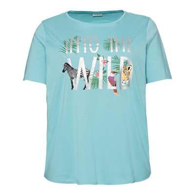 Damen-T-Shirt mit Safari-Frontaufdruck, große Größen