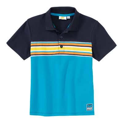 Jungen-Poloshirt mit Kontrast-Streifen
