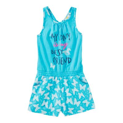Mädchen-Jumpsuit mit Schmetterlings-Muster