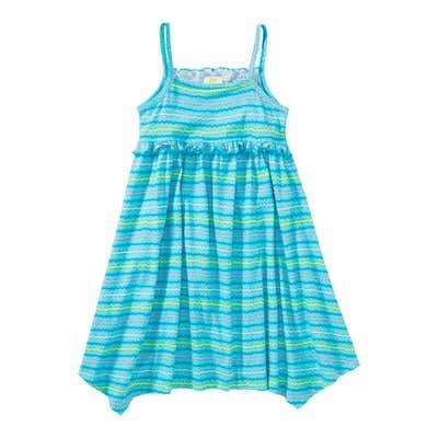 Mädchen-Kleid mit Wellenmuster