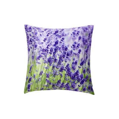 Kissenhülle mit traumhaftem Lavendel-Motiv, ca. 40x40cm