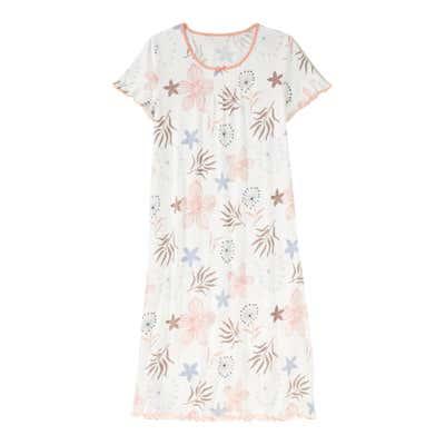 Damen-Nachthemd mit Blumenmuster