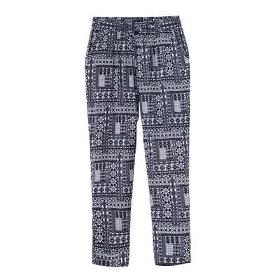 Damen-Joggpants mit trendigem Muster, große Größen