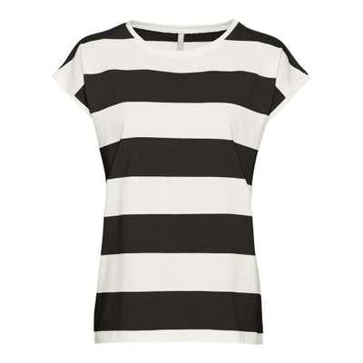 Damen-T-Shirt mit Blockstreifen