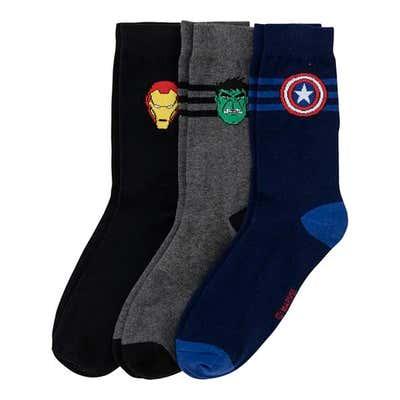 Socken mit Superhelden-Motiv, 3er Pack