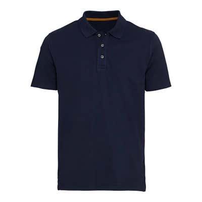 Herren-Poloshirt mit Knöpfen in Horn-Optik