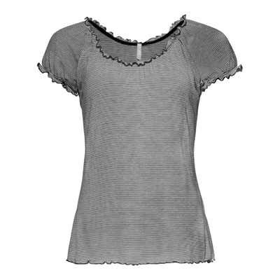 Damen-T-Shirt mit Ringelmuster