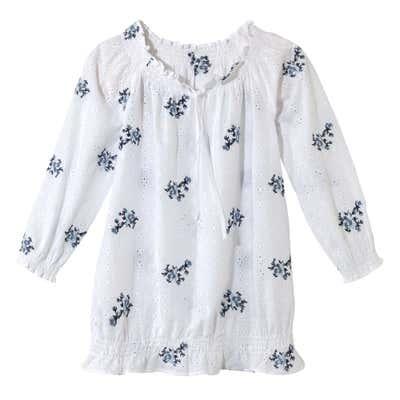 Damen-Bluse mit Blumen-Motiven