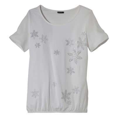 Damen-T-Shirt mit Schmucksteinchen