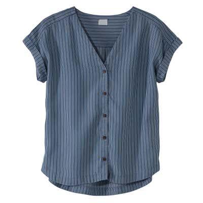 Damen-Bluse mit eleganten Längsstreifen