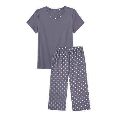 Damen-Shorty mit Punkte-Muster, 2-teilig