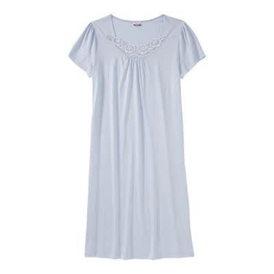 Damen-Nachthemd mit Spitzen-Stickerei