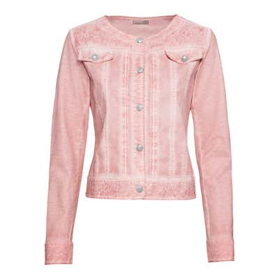 Damen-Jeansjacke in Oil-Washed-Optik