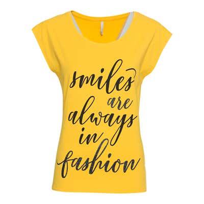 Damen-T-Shirt mit trendiger Aufschrift