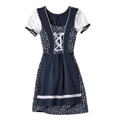 Damen-Trachtenkleid mit geschnürten Satinbändern
