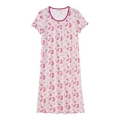 Damen-Nachthemd mit Paisley-Muster