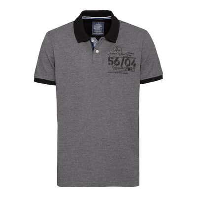 Herren-Poloshirt mit Zahlen-Applikation