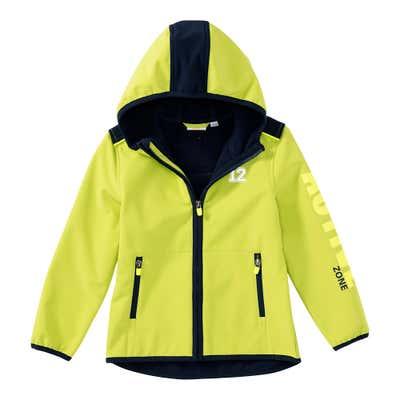 Jungen-Softshell-Jacke mit Neon-Aufdruck