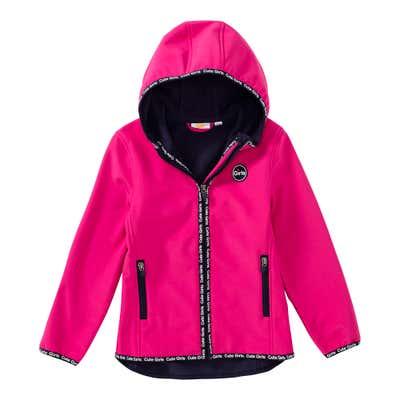Mädchen-Softshell-Jacke mit modernem Einfassband