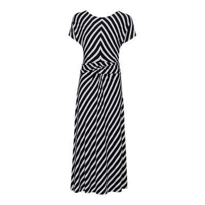 Damen-Maxikleid mit angesagtem Streifendesign