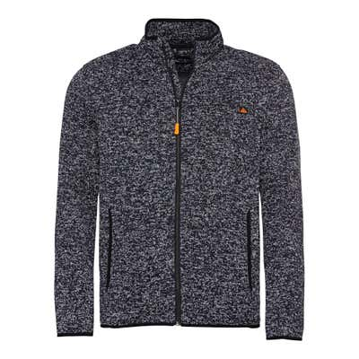 Herren-Strickfleece-Jacke in Melange-Optik