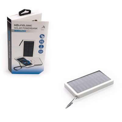 Soundlogic Ladegerät mit Solarpanel, ca. 7x2x12cm